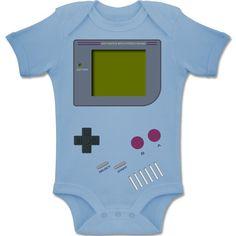 BZ10 Baby Bodysuit Strampler Body Säuglinge kurzarm Envelope Ausschnitt Unifarben - 1-3 Monate - Babyblau - Strampler - Gameboy Shirt