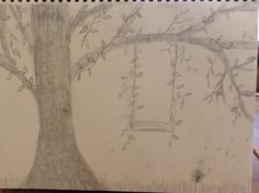 Drawing of a swing on a tree