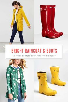 The complete shopping guide to brands that make bright and whimsical rain gear. From bold colors to polka dots, my list has them all. #wellies #rainboots #raincoat #joules #yellowraincoat #rainyday #hunterboots