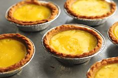 Simple and international, Hong Kong Egg Tarts. Rated #16 on The World's 50 Most Delicious Foods list. I'm game!