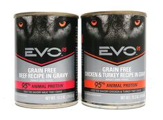 EVO Grain Free Wet Dog Food Variety Pack - 2 Flavors (Chicken / Turkey Recipe and Beef Recipe) - 13.2 Ounces Each (6 Total Cans) * Check this awesome product by going to the link at the image. (This is an affiliate link and I receive a commission for the sales)