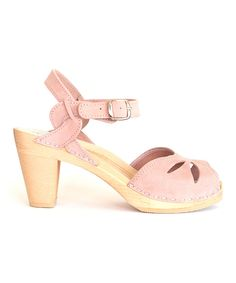 Look at this Powder Pink Rio Leather Sandal on #zulily today!