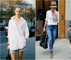 white shirt inspiration