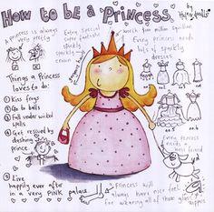 How to be a Princess by Helen Doodle #kids #art #shopforart