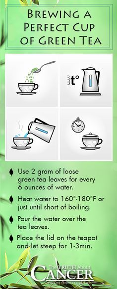 As you are probably already aware, the many health benefits of green tea − once just a popular beverage in China and Japan − has led to its popularity, growing by leaps and bounds among health-conscious people all over the world. Why? Because it fights disease, including cancer! // Here is how to brew the perfect cup. // To read the full article, click on the image! - The Truth About Cancer