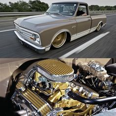 "Hot Wheels - Chevrolet C10 built by Mitch Henderson Designs and better known as ""Sexual Chocolate"" very cool truck, image via @classicsdaily #chevrolet #gmc #c10 #accuair #airsuspension #bagged #hotrod #stance #raked #carporn #streettruck #lowfastfamous"