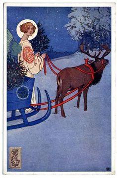 Pohlednice vánoční   Josef Wenig   1900   Www.Esbirky.Cz   CC0
