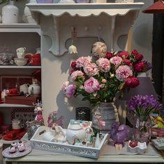 Imaginea Floare artificiala bujor roz 60 cm