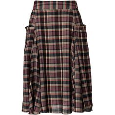I used to have a Pendleton pleated skirt - this reminds me of it, but a bit more fun. Plaid Pleated Skirt, Plaid Skirts, Ankle Length Skirt, Fashion Outfits, Womens Fashion, Fashion Skirts, Women Lifestyle, Skirts With Pockets, Outfits