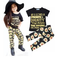 Find More Clothing Sets Information about Girls clothing set 2016 summer Letter short T shirt t shirt + Sunflower flowers pants fashion girls clothes set vetement enfant,High Quality clothes toys,China clothing wear Suppliers, Cheap clothes for a summer hotel from sunshine2015 store on Aliexpress.com