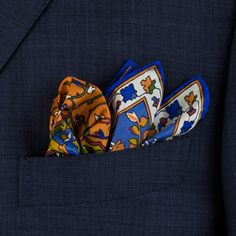 Exquisite Trimmings | Accessories | Pocket-Squares The pocket square is a great option for adding a bit of texture or colour that could be needed to tie an outfit together and really make a difference. At Exquisite Trimmings, we have some of the highest quality and most unique pocket squares that can be bought. We are proud to boast the full range of unique designs by Rubinacci, along with the full collection of archival designs from Drake's, the largest collection that can be found online…