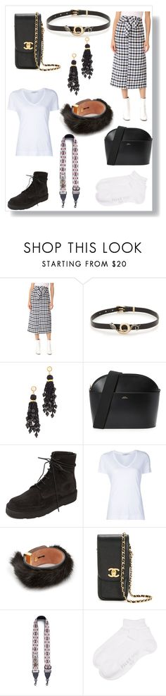"""Fashion Look"" by ramakumari on Polyvore featuring TIBI, Alexis Bittar, Lizzie Fortunato, A.P.C., LD Tuttle, ADAM, Salvatore Ferragamo, Chanel, Rebecca Minkoff and Falke"