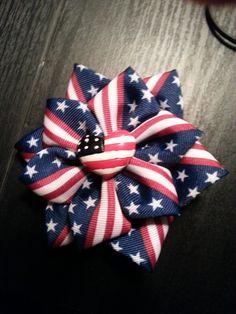 flower stack hair bow