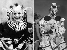 Creepy Vintage Pictures of Clowns Clown Pics, Gruseliger Clown, Clown Mask, Creepy Clown, Vintage Abbildungen, Creepy Vintage, Vintage Clown, Steampunk Circus, Norman Rockwell