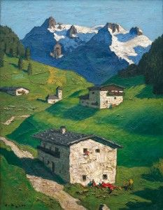 Frühling in Tirol - Alfons Walde Landscape Art, Landscape Paintings, Kunst Online, Ski Posters, Watercolor Pictures, Amazing Paintings, Country Scenes, Grafik Design, Contemporary Paintings
