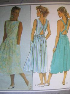 See Sally Sew-Patterns For Less - Cross Strap Back Dress Summer Holiday Fashion Style 4337 Pattern Sz. 12 - 16 , $8.99 (http://stores.seesallysew.com/cross-strap-back-dress-summer-holiday-fashion-style-4337-pattern-sz-12-16/)