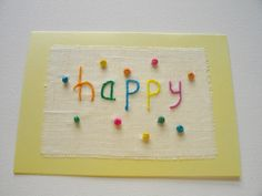 Kaart Happy 3D van FromHelloToGoodbye op Etsy