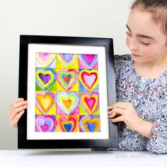 Kandinsky Inspired Heart Art -The perfect art project for exploring color-mixing, that doubles up as a cool kid-made gift for Valentine's Day & Mother's Day