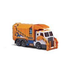 Fast Lane Action Wheels -Front Loading Garbage Truck - Orange