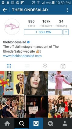 1 The Blonde Salad, Be Perfect, Instagram Accounts, Accounting