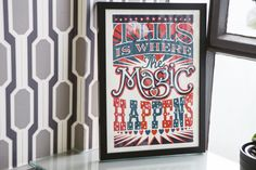 This is where the magic happens poster