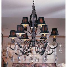 2nd Ave Design New Country French Medium Chandelier with Crystal 2A-87692-36-X $2817.00