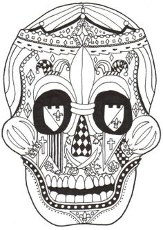 Dia De Los Muertos Coloring Pages | Posted by Kay Larch at 11:42 PM