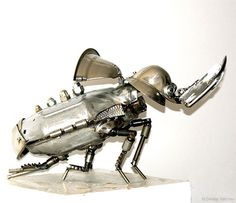 Steampunk Flea: Mechanical Insects by Dimitry Valchev
