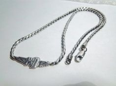 Vintage Harley Davidson 925 Sterling Silver Necklace MOD Jewelry FREE SHIPPING
