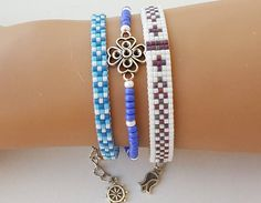 Set di 3 Bracciale bracciale miyuki perline braccialetto