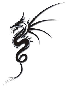 Cool Tribal Dragon Tattoo Design Tattoo Ideas ? | tattoos picture tribal dragon tattoo