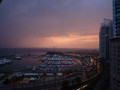LEBANON, BEIRUT, ZAYTOUNI BAY AT SUNSET