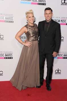 Pink and Carey Hart arrive at the 40th Anniversary American Music in Los Angeles on Nov. 18, 2012.