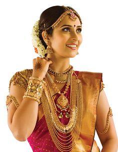 South Indian bride - karnataka, real gold bridal jewellery