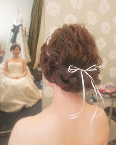 #ヘア#ヘアアレンジ#ヘアセット#ヘアスタイル#ボブ#裏編み#ルーズ#ナチュラル#波ウェーブ#リボン#リボンカチューシャ #ヘッドドレス #ウェディングドレス#トリートドレッシング #weddingdress #weddinghair #wedding#bridal#挙式#hair#hairarrange#hairdo #プレ花嫁#hairstyle