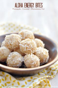 Pineapple coconut protein balls - packed with energy and protein these bites will fulfill your sweet tooth and hunger cravings while giving the protein you need