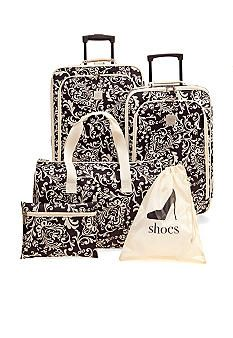 New Directions® 5-Piece Luggage Set - Ivory Vine AT BELK Just bought some for Christmas and they came in...OH MY they are cute, perfect size, easy to deal with, and a WHOLE lot more!