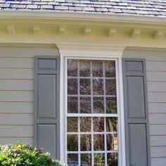 Exterior window trim windows shutters pinterest - Interior vs exterior solar screens ...