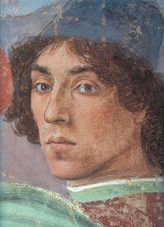 Autorretrato de Filippino Lippi, 1481-82, en un fresco en la Capilla de Santa Maria del Carmine, Florencia.