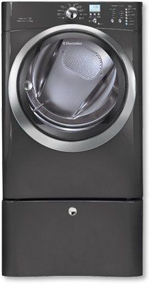 #IQ-Touch 8.0 Cu. Ft. Titanium Stackable With Steam #Cycle Gas Dryer