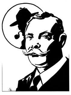 Arthur Conan Doyle  viewed by  Evan Shaner
