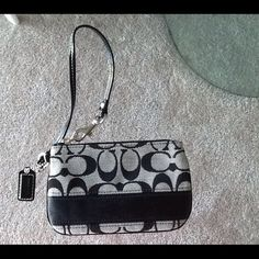 "Selling this ""COACH BLACK WRISTLET"" in my Poshmark closet! My username is: sweetie21. #shopmycloset #poshmark #fashion #shopping #style #forsale #Coach #Clutches"