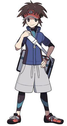 Male Trainer, Pokémon Black and White 2. Trainer Lacktwo/Rakatsu.