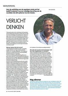 Bedrijfsprofiel Innolumis in Milieumagazine juli 2016