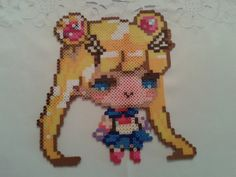 Sailor Moon perler beads by sweet-misery788 on deviantART - Pattern: http://www.pinterest.com/pin/374291419002964938/