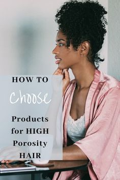 With high porosity hair, the cuticles remain lifted usually because the scales have been damaged. However, it can be (though rarely) genetic. In that case your hair isn't damaged but you still have to choose your products carefully. Click here to learn why it is important to choose the right products for your  porosity level and other tips that may help turn your hair around. #highporosityhair #products #naturalhair #treatment #regimen #signs #tips #routine #care #curly