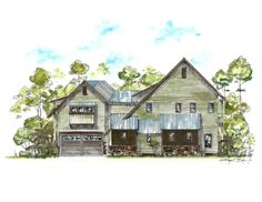 side elevation of the 3,500 sq. ft. custom residence coming soon to Churchill Oaks