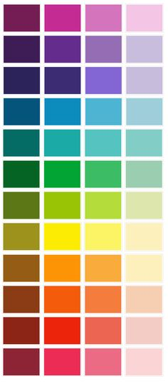 59 Best Color Chart Images On Pinterest Color Theory Colors And