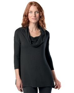 Talented Tunic - Ruby Ribbon - Wear it Multiple Ways - Versatile - Soft Fabric - Cozy for Fall - Neckline