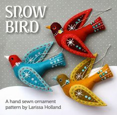 Snow Bird ornament pattern available!